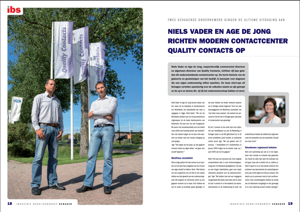 IBS 2010 artikel over quality contacts pagina 1