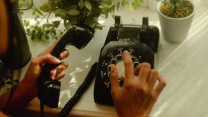 visual van telefoon met koord klantenservice uitbesteden